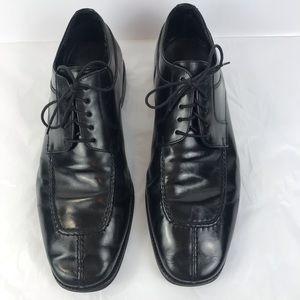 COLE HAAN Black Apron Split Toe Oxfords EUC SZ 12M